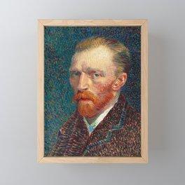 Van Gogh, self portrait Framed Mini Art Print