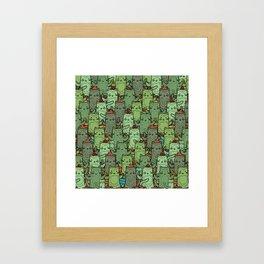 Catcus Garden Framed Art Print