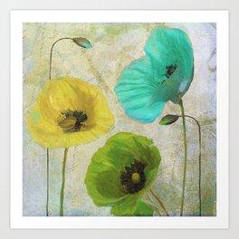 Poppy Shimmer II Art Print