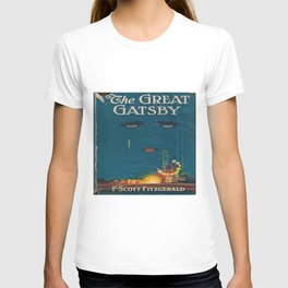 The Great Gatsby vintage book cover - Fitzgerald - muted tones T-shirt