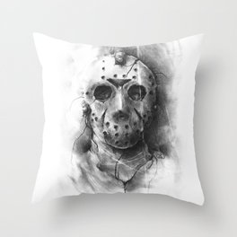 The Horror of Crystal Lake Throw Pillow
