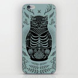 Owl Nesting Doll (Matryoshka) iPhone Skin