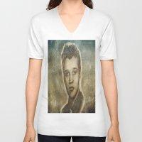 elvis presley V-neck T-shirts featuring Elvis Presley by Dan99