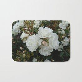 Shield of White Roses Bath Mat