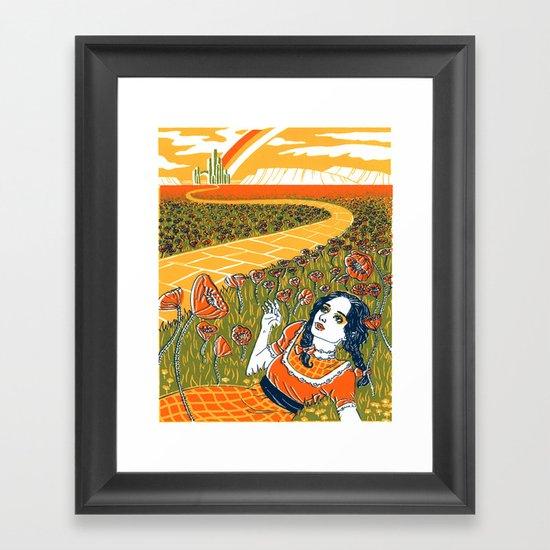 Dorothy in the Poppy Field Framed Art Print
