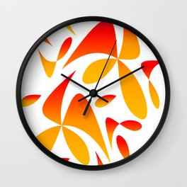Pattern 160 red yellow Wall Clock