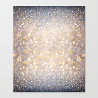 andreas preis Canvas Prints featuring Glimmer of Light (Ombré Glitter Abstract) by soaring anchor designs