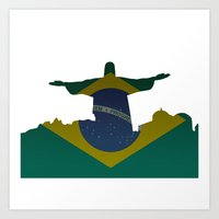 brazil Art Prints featuring Brazil by Jimbob1979
