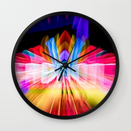 Lights Camera Action Fremont Theater zoom burst photograph Wall Clock