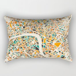 London Mosaic Map #4 Rectangular Pillow