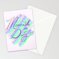 Mermaid on Duty Stationery Cards