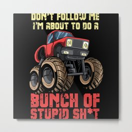 Off-road Vehicle Lovers Gift Design Metal Print