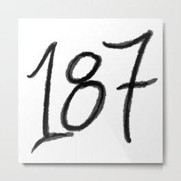 187 Metal Print