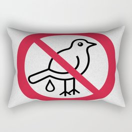 Birds Sign Logo 2 Rectangular Pillow