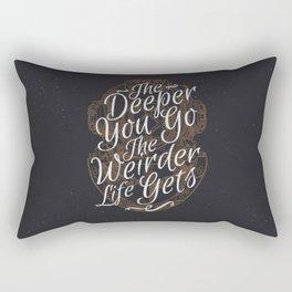 The Deeper You Go Rectangular Pillow