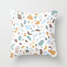 Colorful smooth stones terrazzo pattern Throw Pillow