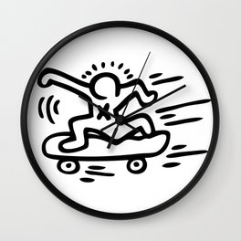 Skate Inspired to Keith Haring Wall Clock