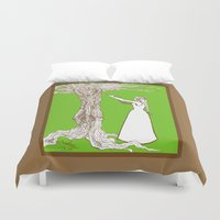 merlin Duvet Covers featuring Nimue & Merlin by TheScienceofDepiction