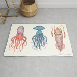 Octopus, Jellyfish and a Squid Rug