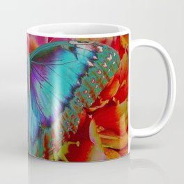 Extreme Blue Morpho Butterfly Coffee Mug
