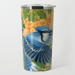 Autumn Song: Blue Jay and Cassia Travel Mug