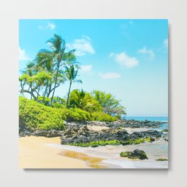 Mokapu Beach Pacific Ocean Tropical Beauty Maui Hawaii Metal Print