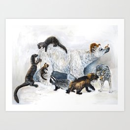 Awesome mustelids Art Print
