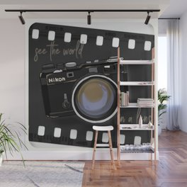 Camera Vintage: see the world in a lens Wall Mural