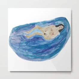 Bathing Woman Metal Print