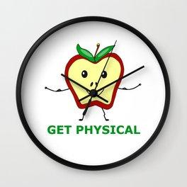 Fitness Apple Wall Clock