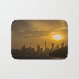Sunset in Sydney (Australia) Bath Mat