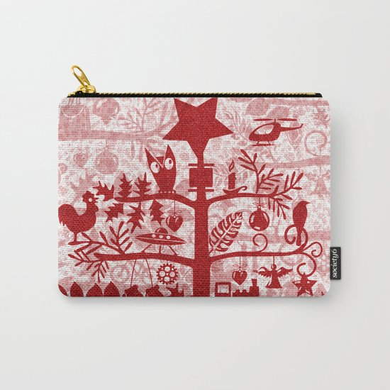 CHRISTMAS TREE red ITINERANT Carry-All Pouch