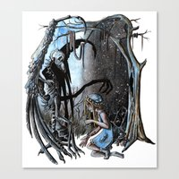nightmare Canvas Prints featuring Nightmare by Ju.jo.weh