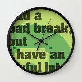 Bad Break Wall Clock