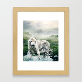 Lonely Tiger 1 Framed Art Print