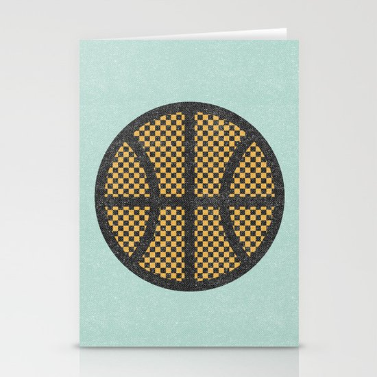 Op Art Basketball. Stationery Cards