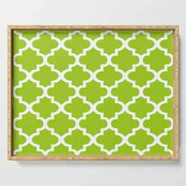 Arabesque Architecture Pattern In Lime Serving Tray