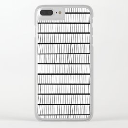 line pattern Clear iPhone Case