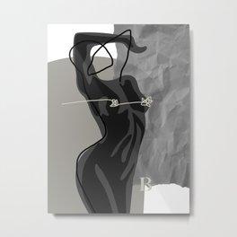 Nude In Shadow Metal Print