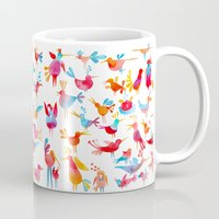 takmaj Mugs featuring Birds by takmaj
