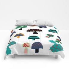 Cute Mushroom white Comforters
