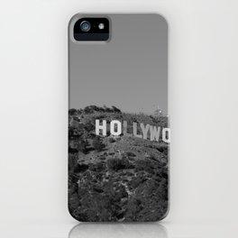 Hollywood Sign Black & White, California Vintage, Retro, Fine Art Photography iPhone Case