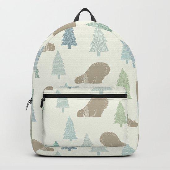 Merry Christmas Polar bear - Animal pattern Backpack