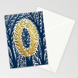 Botanical Metallic Monogram - Letter O Stationery Cards