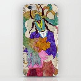 Flowerchild & The Beetle iPhone Skin
