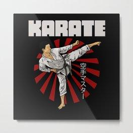 Karate Fighter Metal Print