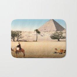Vintage Pyramid : Grand Pyramid Gizeh Egypt 1895 Bath Mat