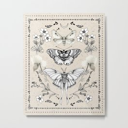 Three Moths Metal Print