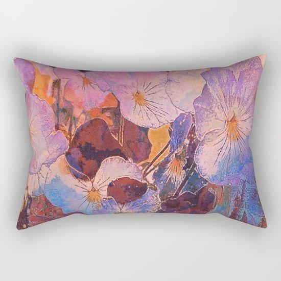 Pansies at Twilight Rectangular Pillow
