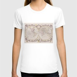 Vintage Map of The World (1782) T-shirt